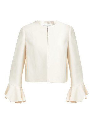 Valentino ruffled cuff wool blend jacket