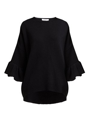 Valentino ruffled cuff wool blend sweater