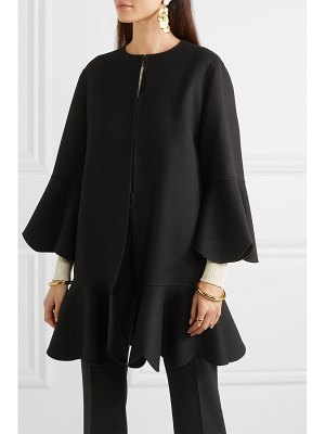 Valentino ruffled wool and cashmere-blend cape