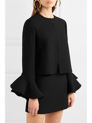 Valentino ruffled wool and silk-blend jacket