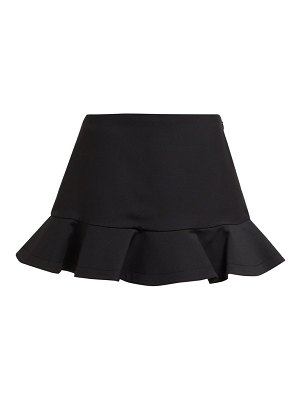 Valentino ruffled wool blend mini skorts