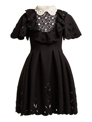 Valentino sequinned wool and silk blend mini dress