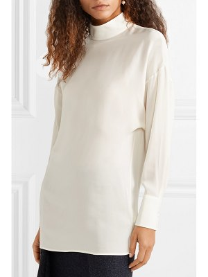 Valentino silk-georgette turtleneck blouse