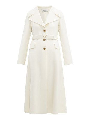 Valentino single-breasted wide-lapel cashmere coat