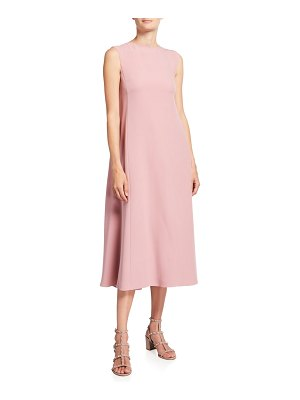 Valentino Sleeveless Cady Couture Dress With Flowy Back