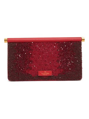 Valentino small carry secrets beaded clutch