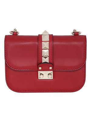 Valentino Small studded leather lock bag