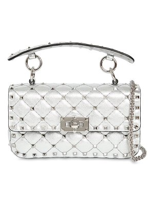 Valentino Small studded laminated leather bag
