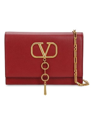 Valentino Small v case grained leather bag