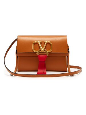 Valentino v ring small leather cross body bag