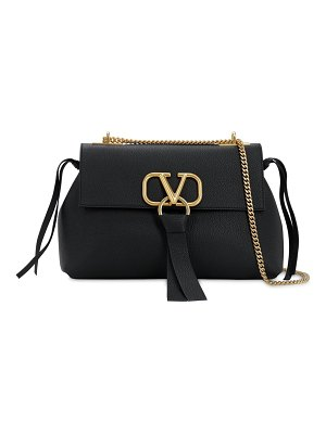 Valentino Small v ring leather shoulder bag