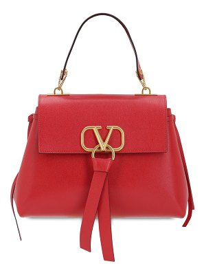 Valentino Small v ring leather top handle bag