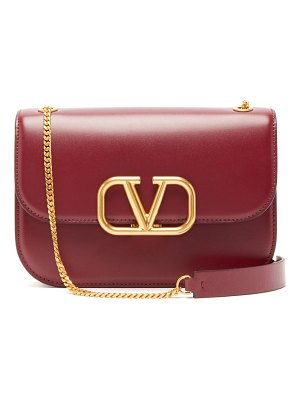 Valentino small v sling leather cross body bag