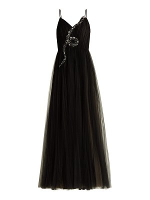 Valentino snake embellished tulle gown
