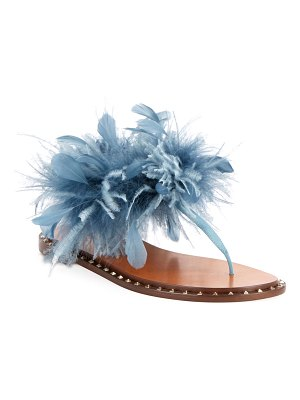 Valentino Soul Stud Feather Thong Sandals