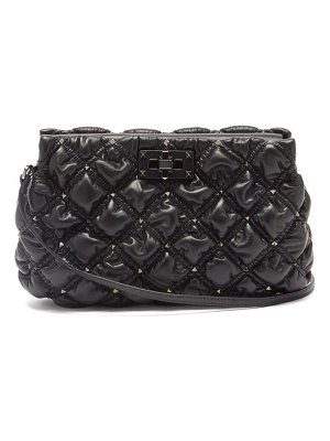 Valentino spikeme medium quilted-leather cross-body bag