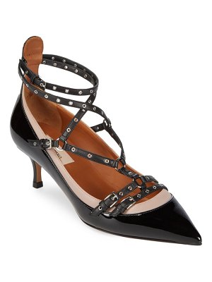 Valentino Strappy Patent Leather Pumps