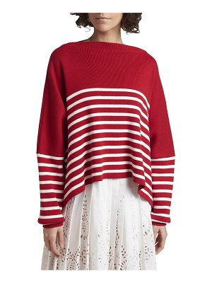 Valentino Striped Ribbed Oversized Sweater