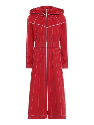 Valentino Techno jersey hooded maxi dress