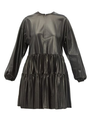 Valentino tiered leather dress