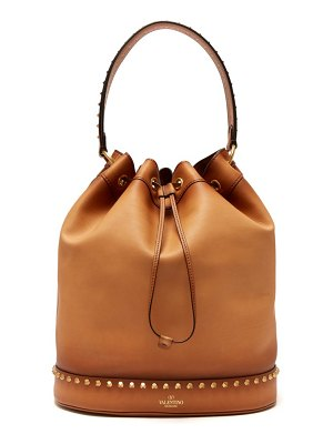 Valentino twinkle studs leather bucket bag