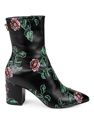 Valentino undercover rockstud floral leather booties