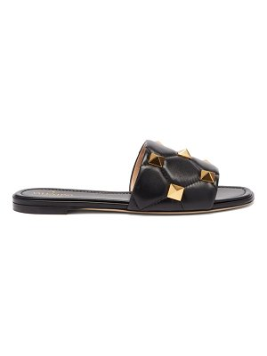 Valentino roman stud quilted leather slides
