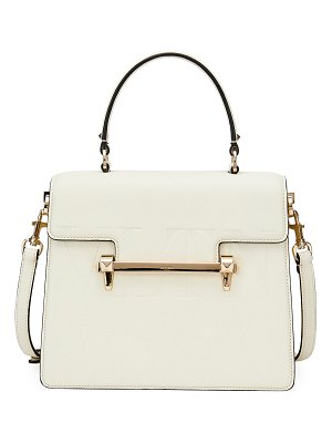 Valentino Uptown VLTN Leather Top-Handle Bag