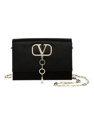 Valentino V Case Small Satin Shoulder Bag