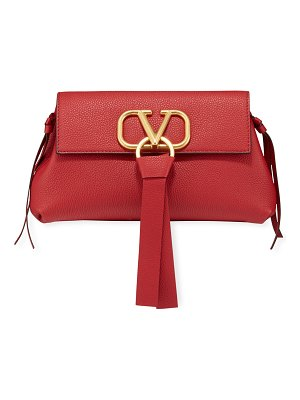 Valentino V-Ring Small Leather Clutch Bag