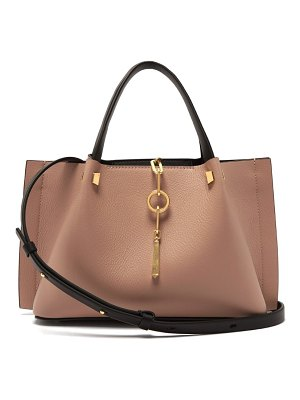 Valentino v ring small leather tote bag