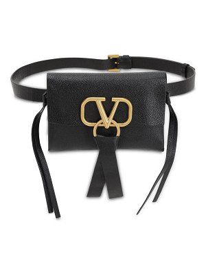 Valentino V ring smooth leather belt bag
