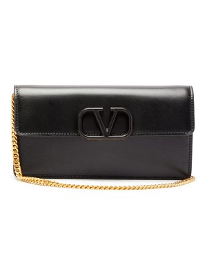 Valentino v sling small chain strap leather clutch