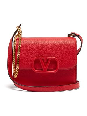 Valentino v-sling small grained-leather cross-body bag