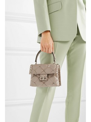 Valentino valentino garavani candystud mini quilted leather shoulder bag