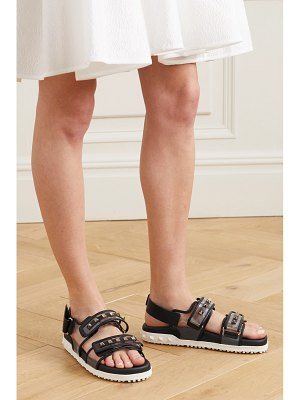 Valentino valentino garavani rockstud leather and pvc sandals
