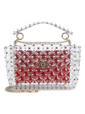 Valentino Valentino Garavani Rockstud Spike transparent shoulder bag