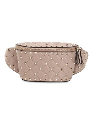 Valentino Spike embellished leather belt bag
