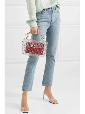 Valentino valentino garavani the rockstud spike medium quilted pvc shoulder bag
