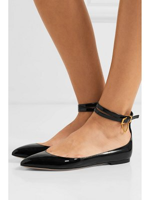 Valentino valentino garavani tiny chain patent-leather point-toe flats