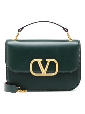 Valentino valentino garavani vlock small leather shoulder bag