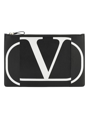 Valentino valentino garavani vlogo leather clutch