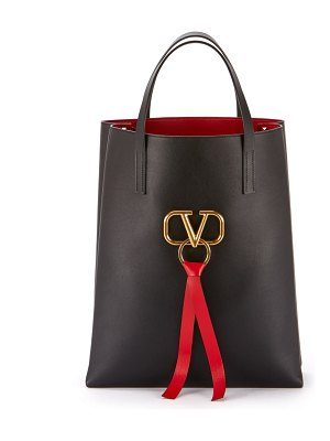 Valentino Vee Ring Leather Tote Bag