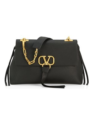 Valentino vring chain leather shoulder bag