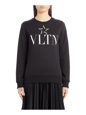 Valentino vtlnstar logo graphic cotton jersey sweatshirt
