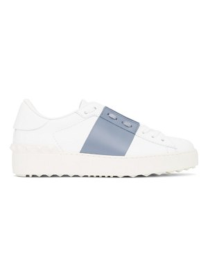 Valentino white and blue  rockstud open sneakers
