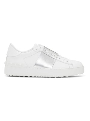 Valentino white and silver  open sneakers