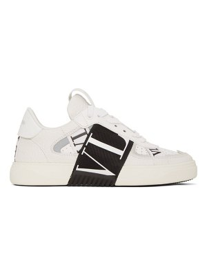 Valentino white  garavani elastic low-top sneakers