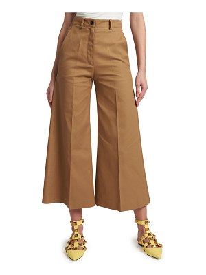 Valentino Wide-Leg Cropped Pants