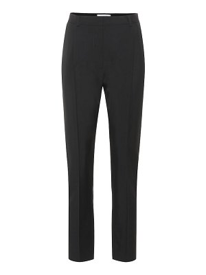 Valentino Wool and mohair high-rise pants